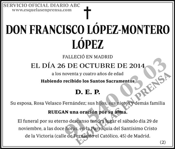 Francisco López-Montero López